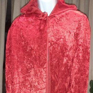 Ladies Halloween Costume Red Cape with hood